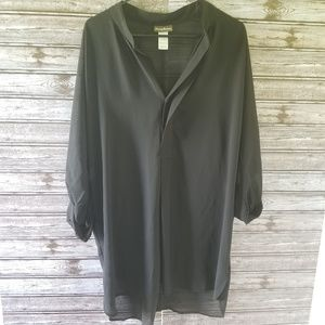 Tommy Bahama Sheer Black Top/Cover Up Size M